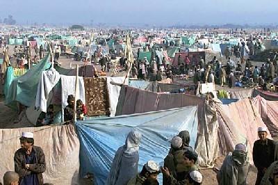 Campo de refugiados de Jallozai, Paquistán. Imagen procedente de encarta.msn.com
