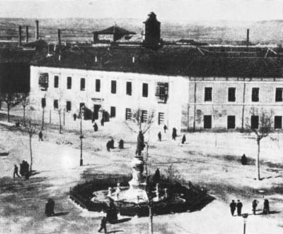 La vieja Academia de Caballería de Valladolid (imagen procedente de viajejet.com/fotos-antiguas-de-espana)