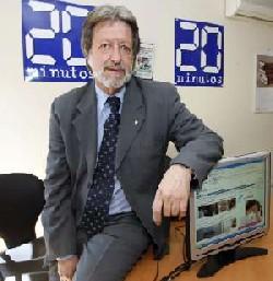 Foto de Antonio Cabado tomada en la redacción de 20minutos.es el pasado 17 de julio, a las 12 horas