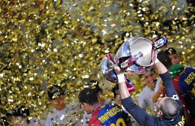 Celebración de la final de la Liga de Campeones que ganó el Barcelona frente al Manchester (imagen procedente de cadenaser.com)