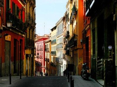 Vista de la calle del Calvario, de Madrid (imagen procedente de fotosdemadrid.es)