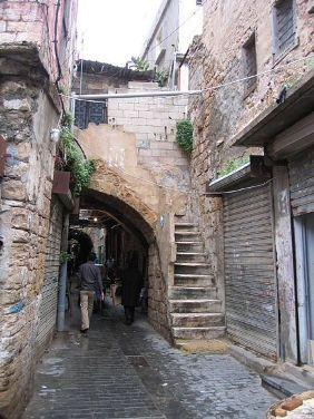Una calle de Sidón (Imagen procedente de souwar.yaacoub.com)