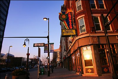 Vista de Elm Street, de Manchester, New Hampshire, USA (Foto de Globe staff/Dina Rudick publicada en boston.com)