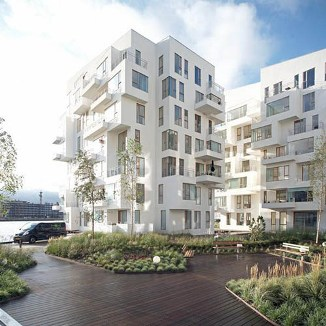 Conjunto de apartamentos Harbor Isle, Havneholmen, Copenhague, dise&#241;ados por Lundgaard y Tranberg, 