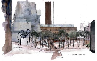 Propuesta de Ken Worpole para el espacio urbano del London´ Bankside quarter (imagen procedente de topos.de)