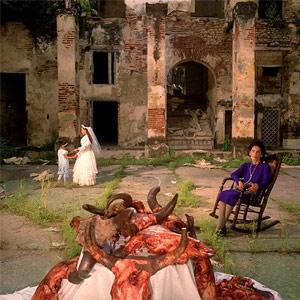 Imagen del libro del fotógrafo holandés Hannes Wallrafen titulado Una jornada en Macondo, 1992 (publicada en news.bbc.uk).