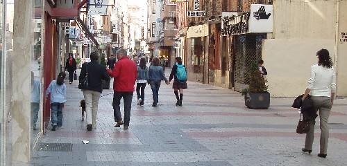 La calle Mantería de Valladolid, a las tres de la tarde, en octubre. Foto: MS