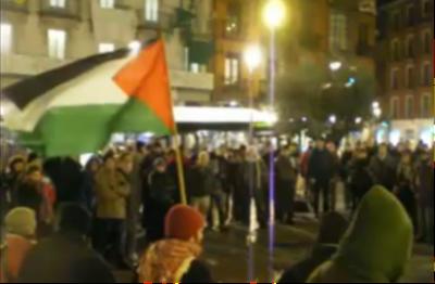 Concentración en la Plaza de la Fuente Dorada de Valladolid en solidaridad con Palestina.