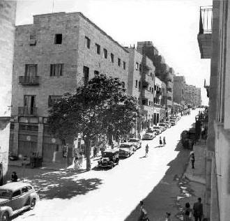 Una calle de Jerusalén en 1945 (imagen procedente de interet-general.info)
