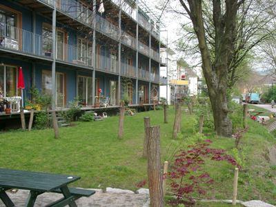 Vista de una passivhaus Wohnen & Arbeiten (vivienda y trabajo; procedente de dellekom.de)