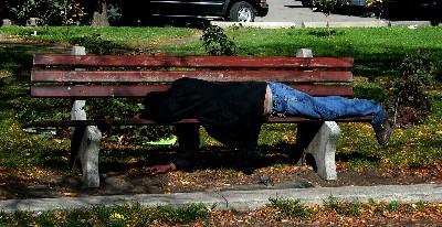"""""""Toronto-homeless"""" (fotografía de bovitz.com)"""