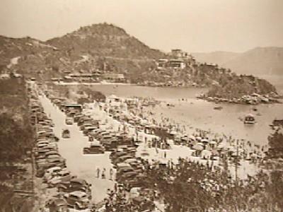 Una vieja imagen de Acapulco, procedente de capama.gob.mx.