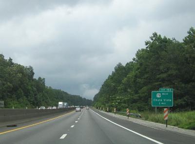 Imagen de la U.S. 78 (Bankhead Highway), en la salida 153 (foto de 2005, procedente de southeastroads.com)