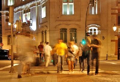 Paso de cebra junto a Correos, en Burgos (foto procedente de flickr.com)