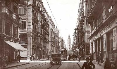 Calle de la Paz, Valencia. Foto antigua tomada de skyscrapercity.com