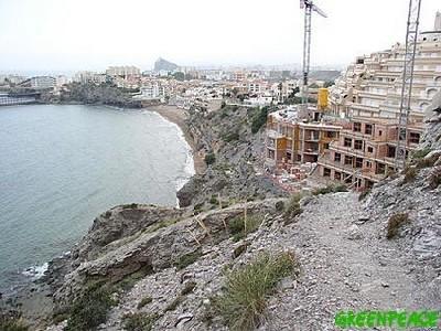 Imagen de la costa murciana (Greenpeace, 2007)