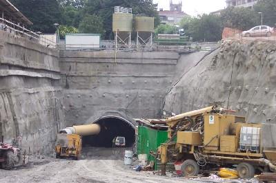 Soterramiento de la línea del ferrocarril Bilbao-Donostia en Durango (imagen de fulcrum.es)
