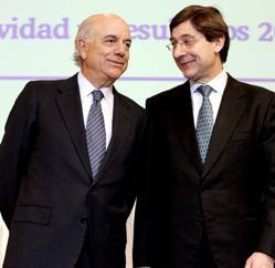 Francisco González, presidente de BBVA, y José Ignacio Goirigolzarri, antiguo consejero delegado (imagen procedente de elconfidencial.com)