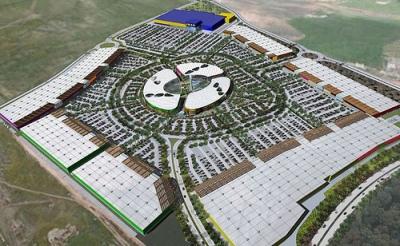 Imagen del Inter IKEA Centre España, que está previsto inaugurar en 2010 en Jerez de la Frontera (imagen procedente de pepecontreras.blogspot.com). Es el modelo que también se aplicará en Arroyo de la Encomienda, Valladolid.