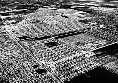 Imagen de Lakewood, Los ngeles, en 1950 (procede de losangelesfilm.org).