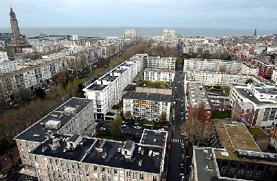 Vista a&#233;rea de Le Havre (Normad&#237;a, Francia). Imagen obtenida de ouestfrance-ecole.com