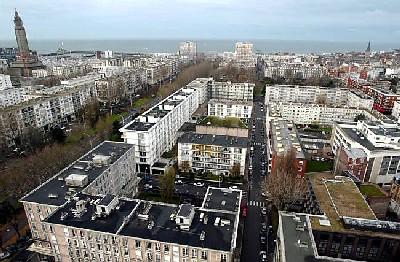 Vista aérea de Le Havre (Normadía, Francia). Imagen obtenida de ouestfrance-ecole.com