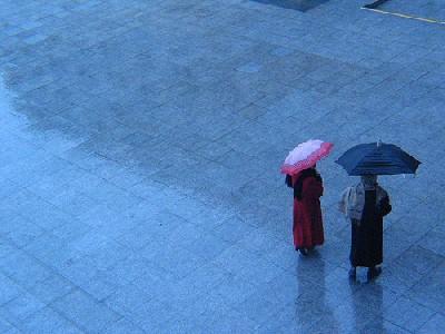 Lluvia. Foto del 12 de Julio de 2006 (procedente de entuciudad.cl)