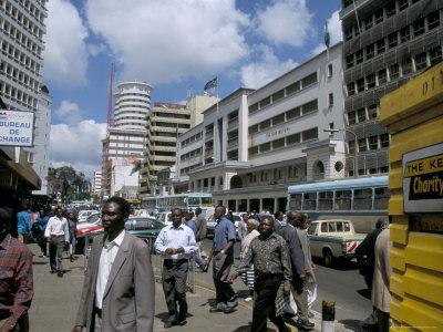 Nairobi, Moi Avenue (imagen procedente de kenya-advisor.com)