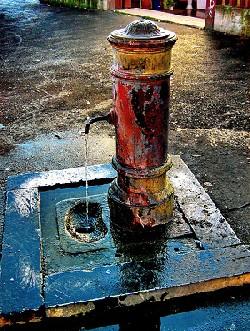 ¿Cómo combatir el calor en el Coliseo? Sparsiones de agua azafranada.