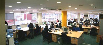 Imagen de una oficina de Bilbao (son las nuevas oficinas de Eurohelp Consulting. La imagen procede de euro-help.net)