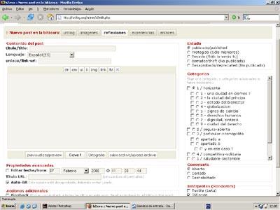 pantalla de edicion