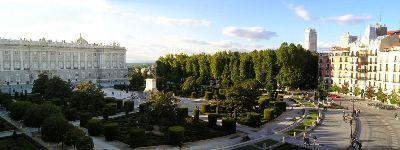 El parque de la Plaza de Oriente de Madrid (imagen procedente de travelinginspain)