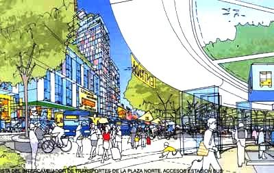 Una de las imágenes del Plan Rogers, incluida en la Memoria (Valladolid, 2008)