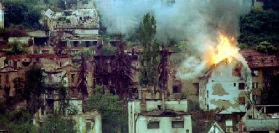 Sarajevo en llamas (imagen procedente de rtve.es)