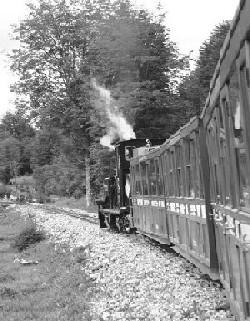 Tren del Fin del Mundo, dirigiéndose hacia Ushuaia, Argentina (foto de Federico Barbagallo, publicada en fotoblog.fbarbagallo.com.ar)