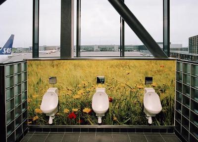 Servicios del aeropuerto de Estocolmo (imagen procedente de urinal.net/stockholm_airpt)