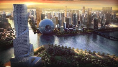 Imagen promocional de Waterfront City (procedente de desafinacion.wordpress.com)